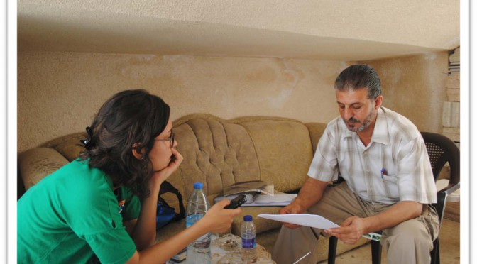 Interview with human rights documenter, 07/2014