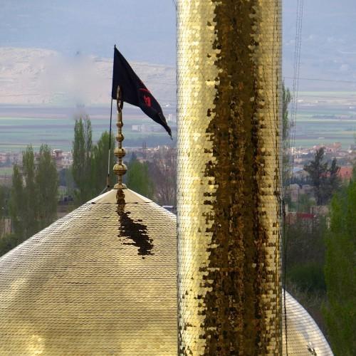 Mosquée chiite, ville de Baalbek. Les Jihadistes n'ont pas soutenu que le camps des révolutionnaires