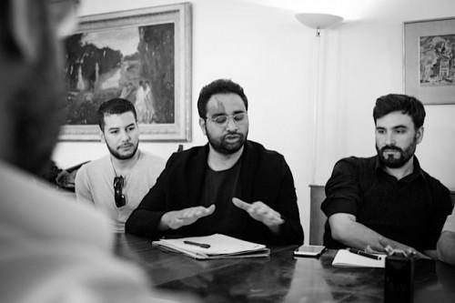 Amr Ezzat (au centre de la photo), 2015