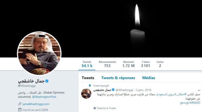 Compte Twitter de Jamal Khashoggi