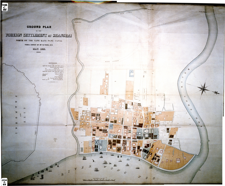Original of the 1855 map of the British Settlement  Blog Virtual