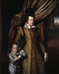Giovanni Bizzelli, Johanna von Hasbourg, 1586, bois, 140 x 116 cm. Firenze, galleria degli Uffizi, inv.1890 n°2242.
