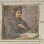 Bild von Johannes Eck unter der Orgel (19. Jhd.)
