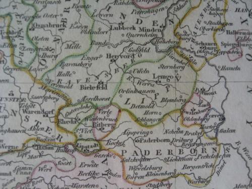 Das Herrschaftsgebiet des Grafen zur Lippe in der Frühen Neuzeit (Quelle: wikimedia commons).