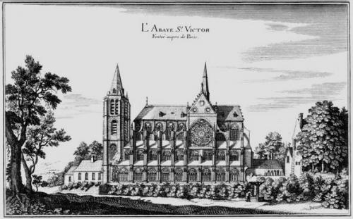 Die Stiftskirche von St. Victor auf einer Abbildung des 18. (?) Jahrhunderts. (Quelle: ddd)