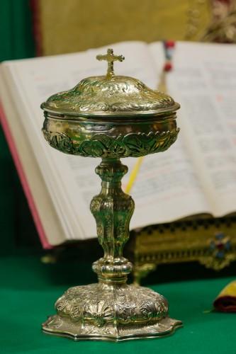 Um 1500 wurden Hostien in wertvollen Ziborien aufbewahrt. (Quelle: EdouardHue,