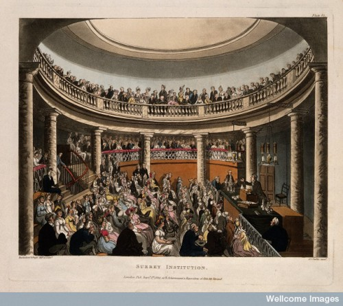 V0013159 Surrey Institution, Blackfriars Road, Southwark, London: the Credit: Wellcome Library, London.