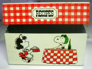 peanuts recipe box