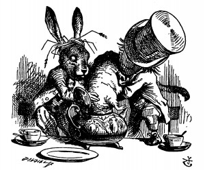 Hatter's Tea Party, John Tenniel. Source: Wikipedia.