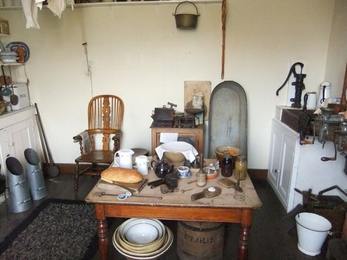 Replica Victorian kitchen