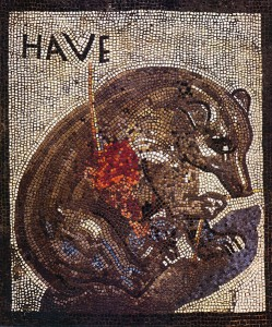 Wounded bear. Mosaic from Pompeii. Source: Wikipedia
