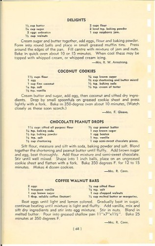 Metropolitan United Church Junior W.A. Cookbook 1952