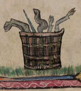 London, British Library, MS Additional 142012, here f. 138r: The remains of a grilled unicorn. Click the image to get to the related BL Medieval Manuscripts Blog post. Republished with the permission of the British Library.