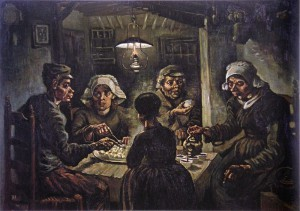 Vincent Van Gogh, The Potato Eaters, 1885. Credit: Wikimedia Commons.