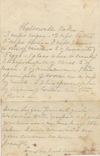 Winterthur Library, Doc 47, Mrs. E.A. Phelp's recipe book