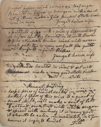 Winterthur Library, Doc. 512, Rappe Family Recipe Book