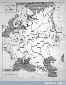 L0004274 Map of Russia lent by Dr. Schuster.