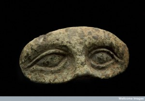 Eye-shaped votive. Roman period.  Source: Wellcome images