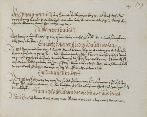 The recipe book of duchess Dorothea Susanne von Sachsen-Weimar from the collection of the electors Palatine, 1573. Heidelberg University Library, http://digi.ub.uni-heidelberg.de/diglit/cpg182.