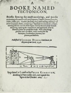 One of the books Pamela Smith referred to: Leonard Digges, A booke named Tectonicon, […]. Leonard Digges. London, F. Kyngston, 1605. Online on: https://openlibrary.org/books/OL23282093M/A_booke_named_Tectonicon_brieflie_shewing_the_exact_measuring_and_speedie_reckoning_all_manner_of_la.