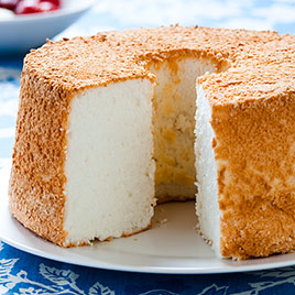 """The Best Angel Food Cake"" from America's Test Kitchen. The ingredients and method for producing this cake from scratch are little changed from the nineteenth century original."