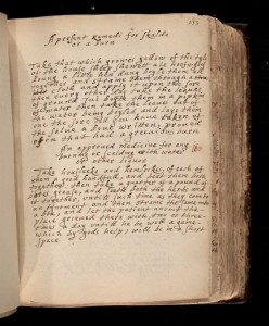 Medical Receipt Book, Mary Pewe, Wangensteen Historical Library of Biology and Medicine, WZ250 M489 1637