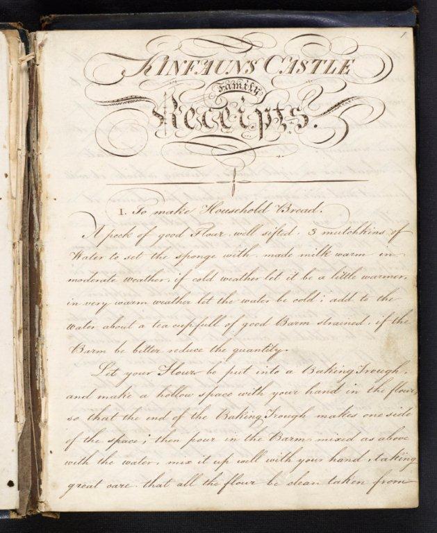 Kinfauns Castle Family Receipts, 19th century, MS.24778