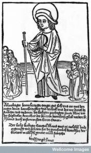Prayer to St. Minus (French saint) against Pox mala frantzoza (syphilis). Credit: Wellcome Library, London.