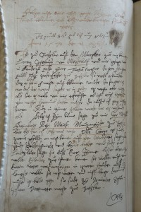 Beginning of Georg's account of his recipe hunt in Breslau, 21 August 1570. Leiden University Library, Vossiani Chymici F19, f.81v. by Agnieszka Rec