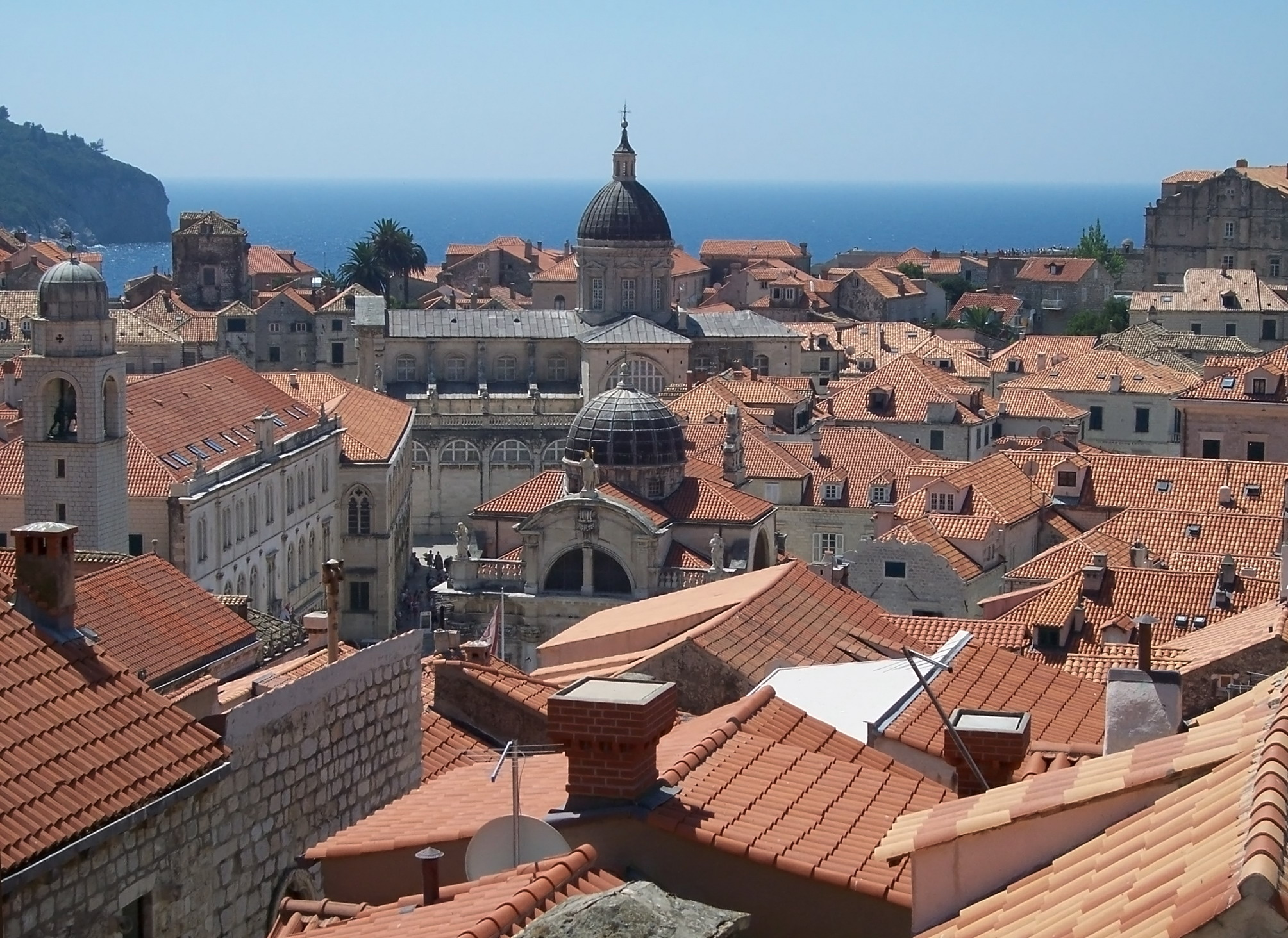 A view of the old city of Dubrovnik. from Wiki Commons