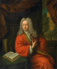 Mattheus Verheyden, portrait of Otto Frederick Houttuyn. Was the robe painted with a cochineal-based red?