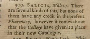 Figure 3. John Quincy, Pharmacopoea Officinalis (1730), p. 22.