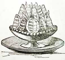 "Wood-engraving of one of Acton's ""fancier"" recipes – Orange Jellies in Modern Cookery, 1845. Image Credit: Wikimedia Commons."