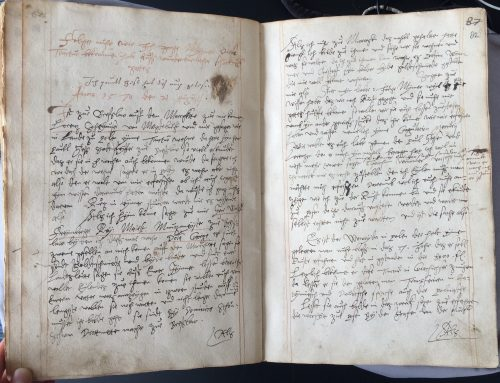 Image 2: Georg's account of his recipe hunt in Breslau. Leiden University Library, Vossiani Chymici F19, ff.81v-82r.