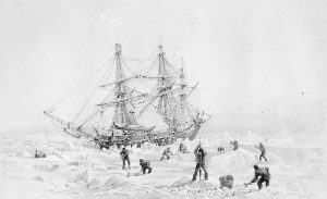 HMS Terror. Image credit: After George Back - National Archives of Canada / C-029929.
