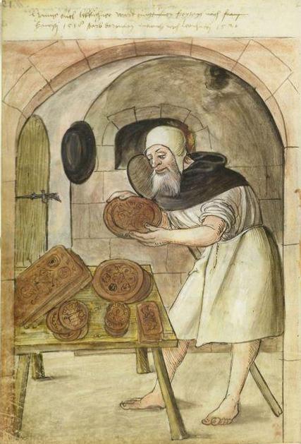 The Lebküchner, Handschrift Stadtbibliothek Nürnberg Amb. 279.2°, Folio 11 verso (Landauer I).