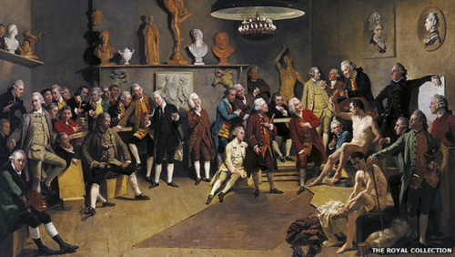 Johan Zoffany, The Portraits of the Academicians of the Royal Academy, 1771-72
