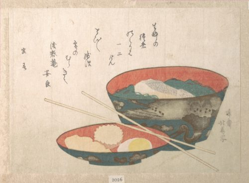 "Fig. 1. Teisai Hokuba, ""Bowl of New Year Food,"" c. 1808. Image courtesy of Metropolitan Museum of Art."