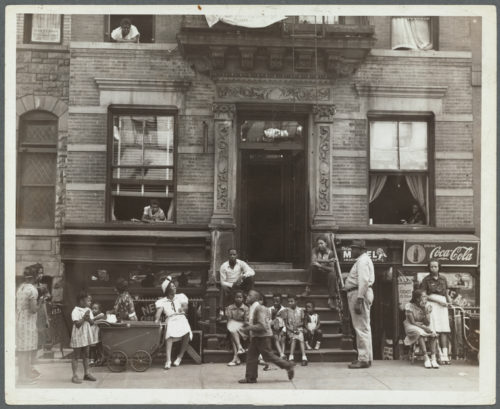 "Schomburg Center for Research in Black Culture, Photographs and Prints Division, The New York Public Library. ""Harlem Tenement in Summer"" The New York Public Library Digital Collections. 1935 - 1939. http://digitalcollections.nypl.org/items/81f397c0-461d-0134-90b2-00505686a51c"