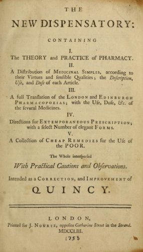 William Lewis, The New Dispensatory Containing The Theory and Practice of Pharmacy (London, 1753). Source: Archive.org