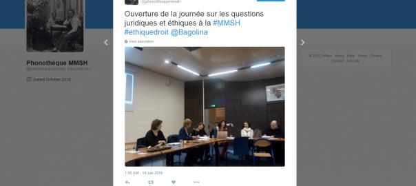 2016-03-15 15_46_23-Phonothèque MMSH on Twitter_ _Ouverture de la journée sur les questions juridiqu