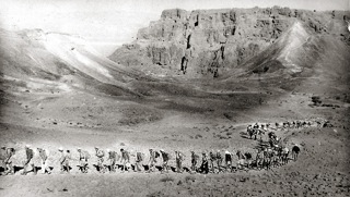 Un mouvement de jeunesse à proximité de Massada, 1942
