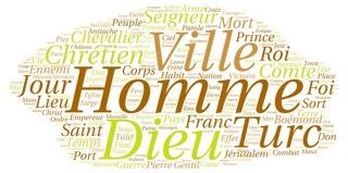 Image 4: nuage de mots à partir de la chronique de Guibert de Nogent,