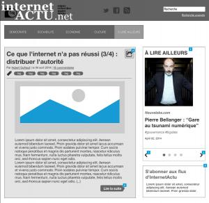 Wireframe de la page d'accueil