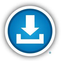 logo blue button