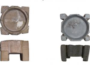 Brûle-parfums en chlorite provenant de Suse et conservés au Musée du Louvre. (c) S. Le Maguer.