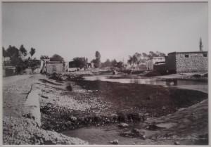 La Barada à l'entrée de Damas, Félix Bonfils, vers 1880.