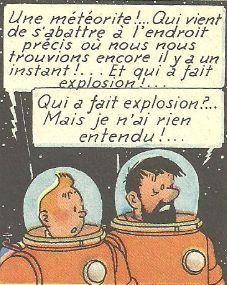 On a marché sur la lune, Hergé