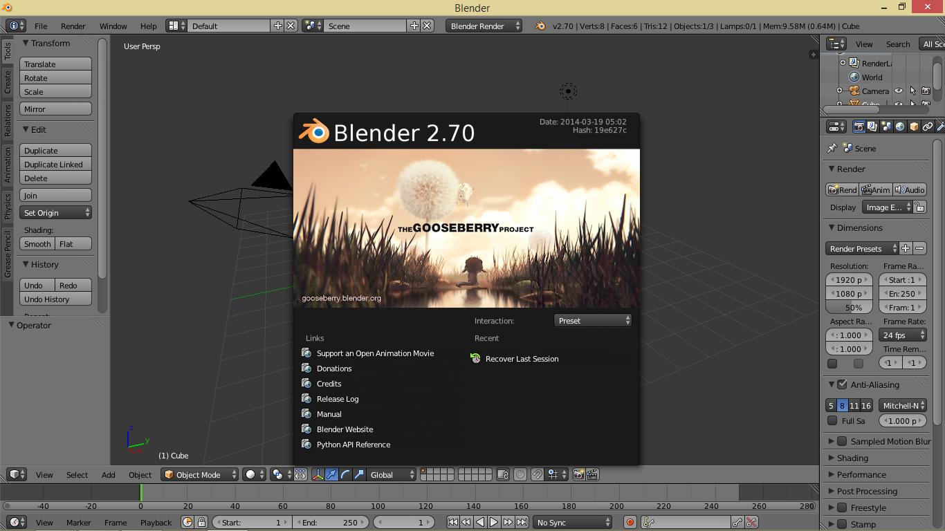 Blender Le Logiciel De Cr Ation 3d Open Source Cr Ation