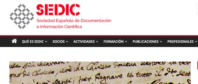 Taller de paleografía de lectura, ss. XV-XVIII (SEDIC, MADRID; 1, 4 y 5/III/2019)